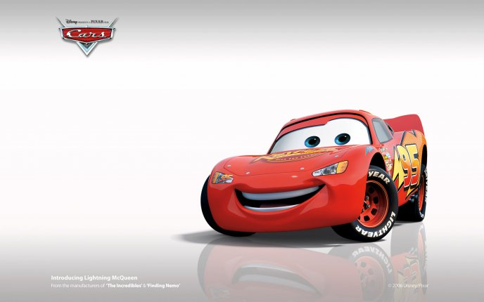 Download Wallpaper Smiling McQueen from Cars