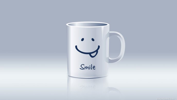 Download Wallpaper Funny smiley cup