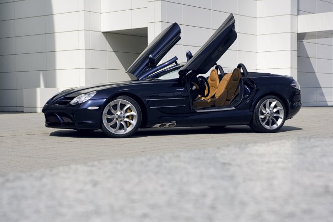 Mercedes Benz Slr Mclaren Navy Blue