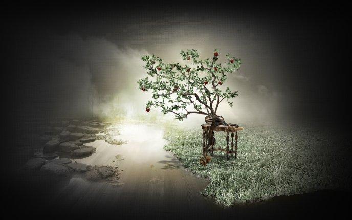 Abstract Tree Hd Wallpaper