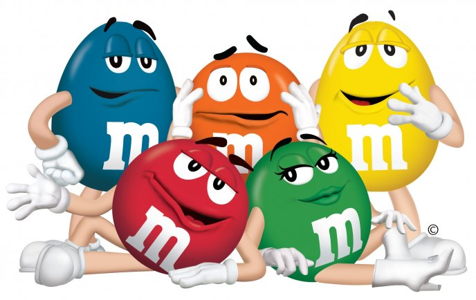 Download Wallpaper m and m - funny chocolate characters
