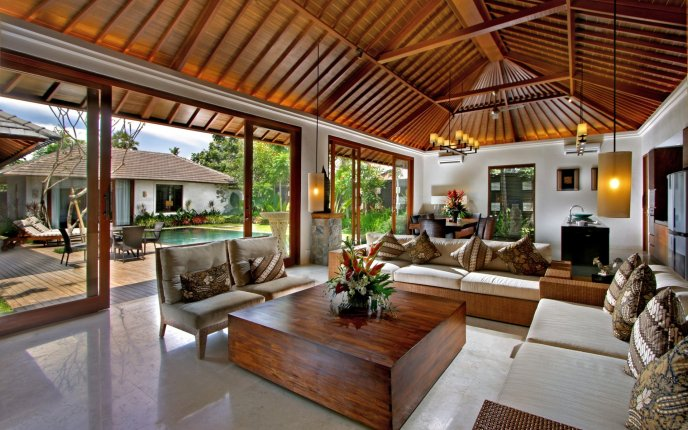 A beautiful living room design - overlooking the courtyard