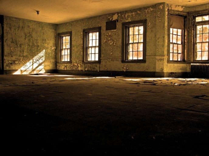 Room Inside Sunlight Through Windows
