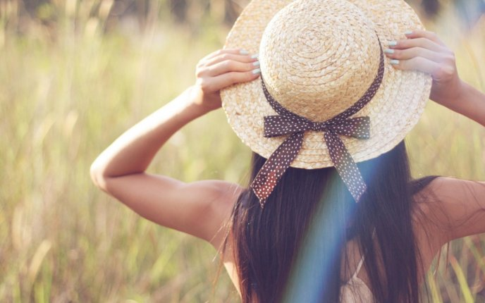 Beautiful girl with straw hat in the wheat chain hd voltagebd Image collections