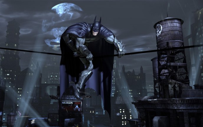 Batman On A Wire The Dark Knight Rises Hd Game Wallpaper