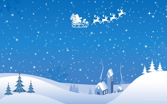 Drawing in the Christmas spirit - Santa Claus HD wallpaper