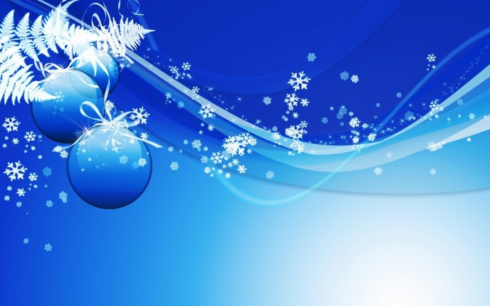 blue christmas background snowflakes and ornaments wallpapermania eu
