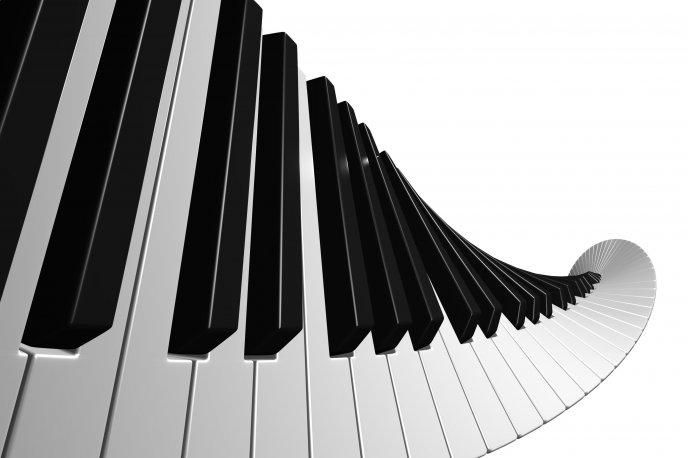 Piano Keys In Spiral Shape Hd Wallpaper