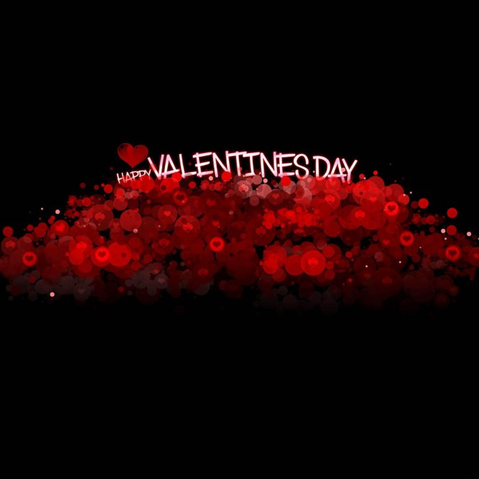 red dots - art design - happy valentine's day, Ideas