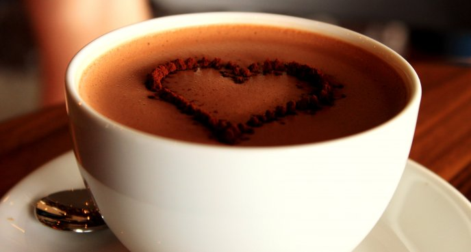 Perfect morning starts with a cup of hot chocolate
