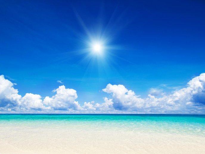 обои для рабочего стола лето море солнце № 383621  скачать