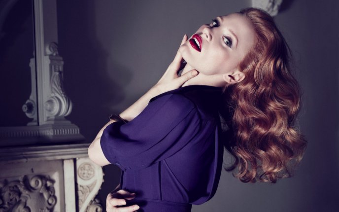 Attractive and beautiful - Jessica Chastain - famous actress