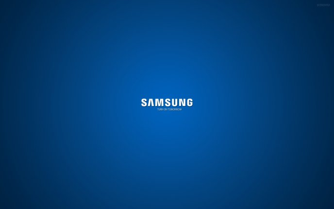Samsung logo - Turn on tomorrow HD wallpaper