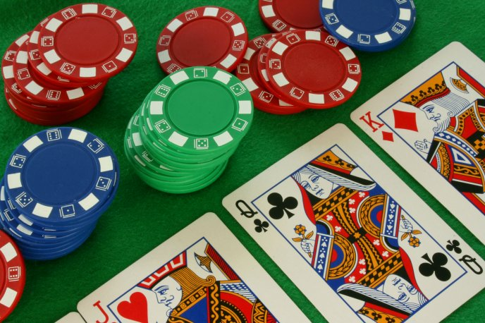 Download Wallpaper Cards and chips - poker game