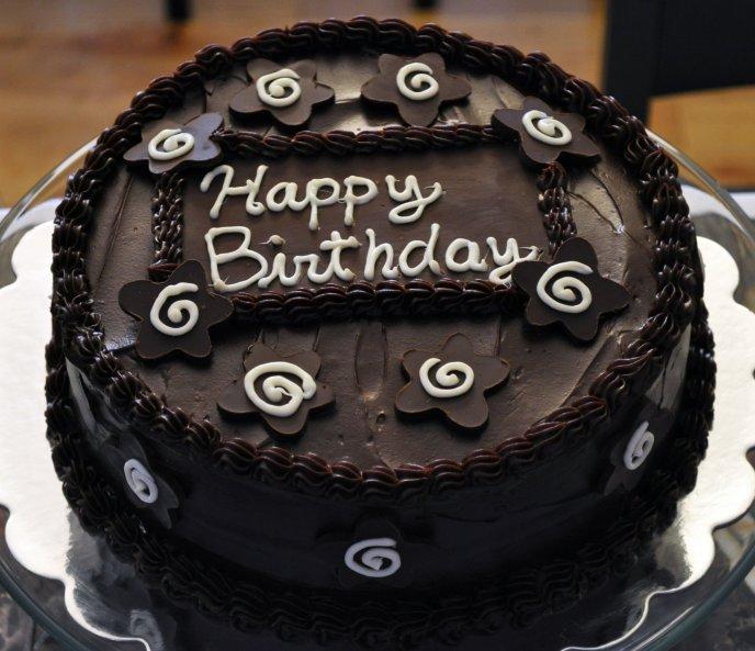 Delicious Chocolate Cake Happy Birthday