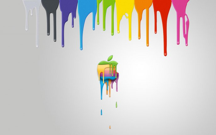 Redesign the apple logo - rainbow apple