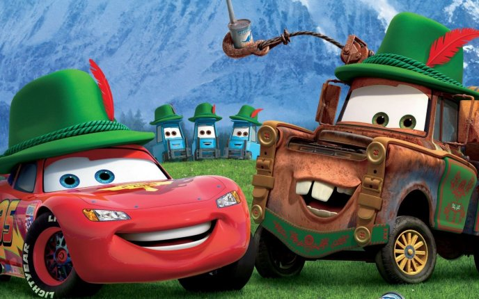 Famous Cars Lightning Mcqueen And Mater