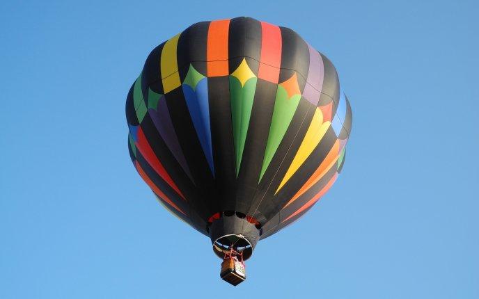 Rainbow Color Hot Air Balloon Hd Wallpaper