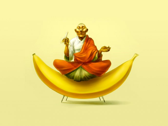 Banana chair - funny HD wallpaper