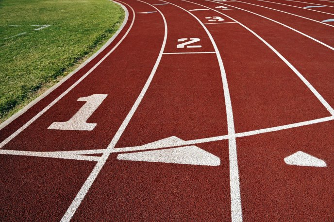 Starting line for athletics - HD wallpaper