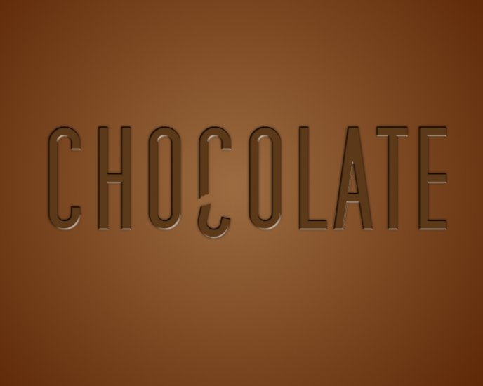 The most delicious thing - chocolate