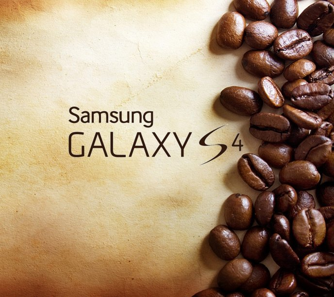 Coffee beans with new HD technology - Samsung Galaxy S4