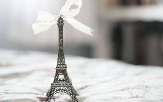 A small reminder of Paris - Eiffel Tower in miniature