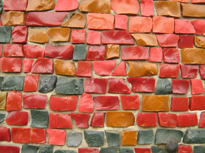 Colorful brick wall - art design