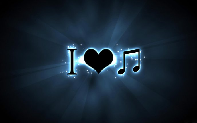 I love music - HD wallpaper
