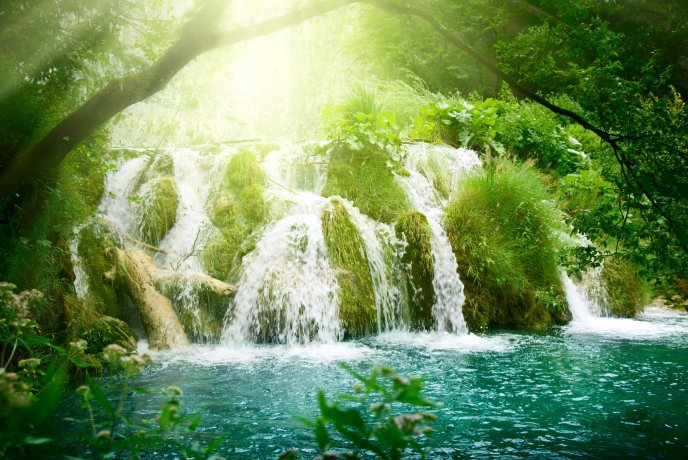 Nature is a miracle - beautiful waterfall