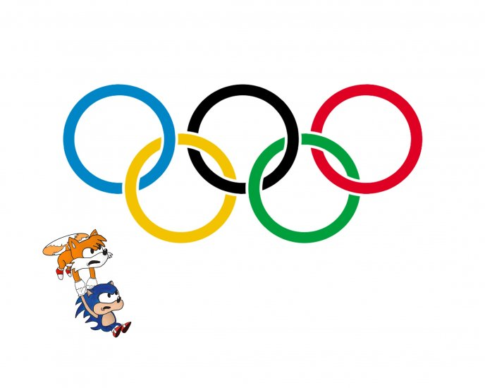 Sonic is training for the Olympics