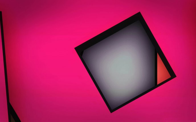 Funky geometric shape - pink background