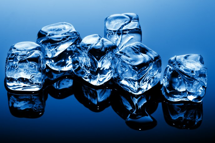 3D ice cubes - abstract HD wallpaper