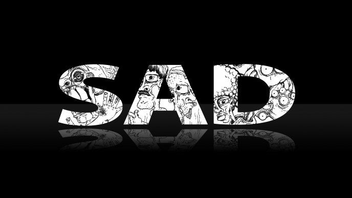 Sad day - black and white HD wallpaper