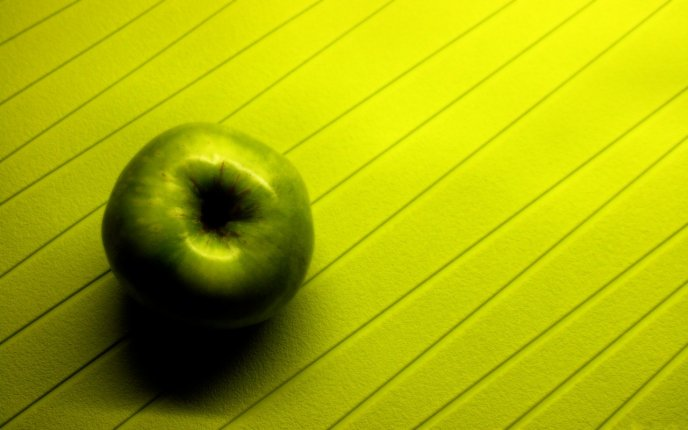 Green apple on a beautiful background