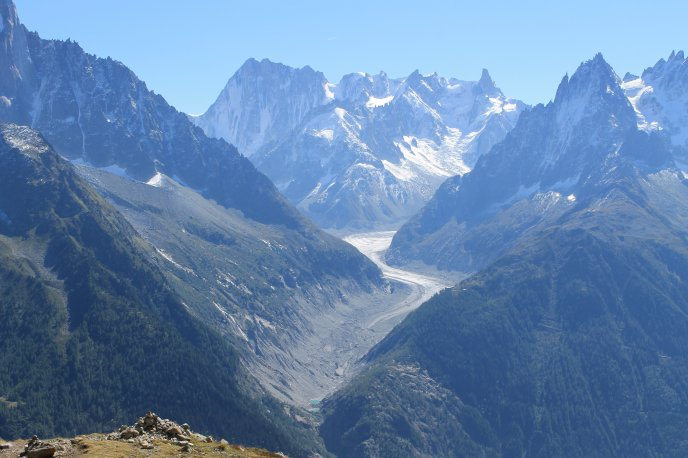Beautiful nature landscape from Mont Blanc - France