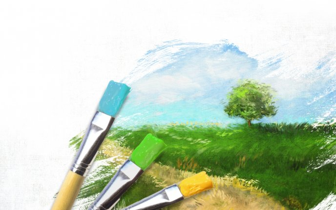 Paint your nature - wonderful drawing
