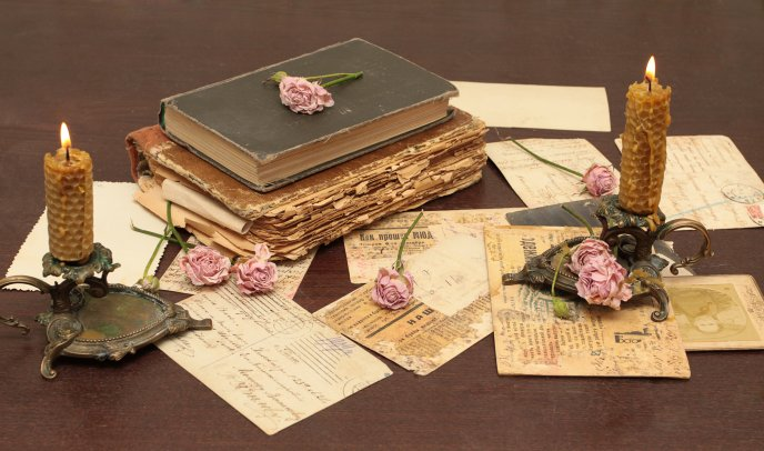 Old letters and books - special memories