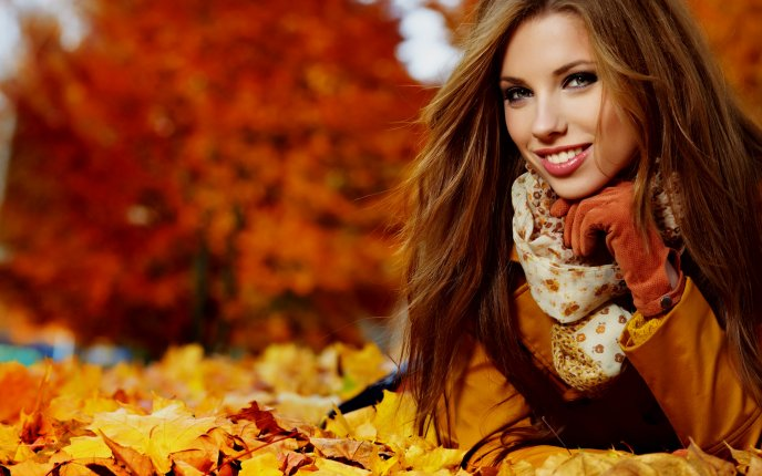 Download Wallpaper Beautiful smile and a professional photo in the park
