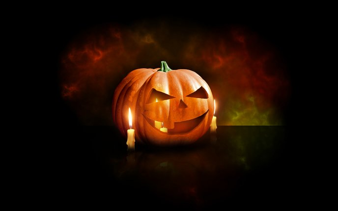 Portrait pumpkin - HD Halloween wallpaper