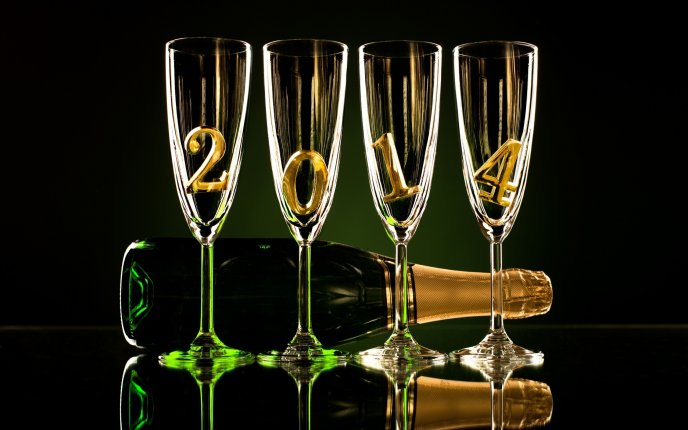 Champagne for the new year 2014 hd wallpaper voltagebd Image collections