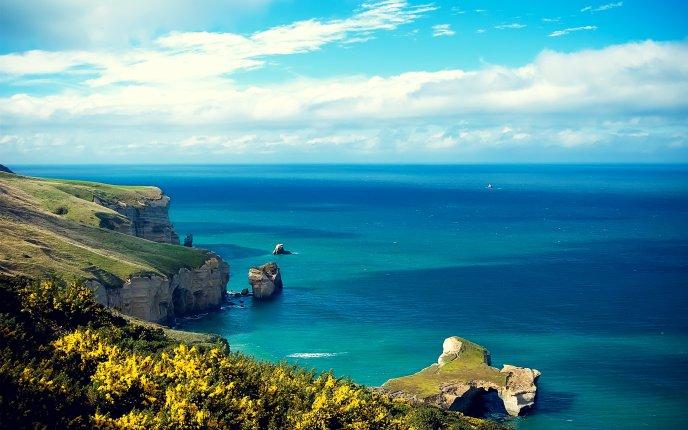 Blue ocean water - HD nature wallpaper