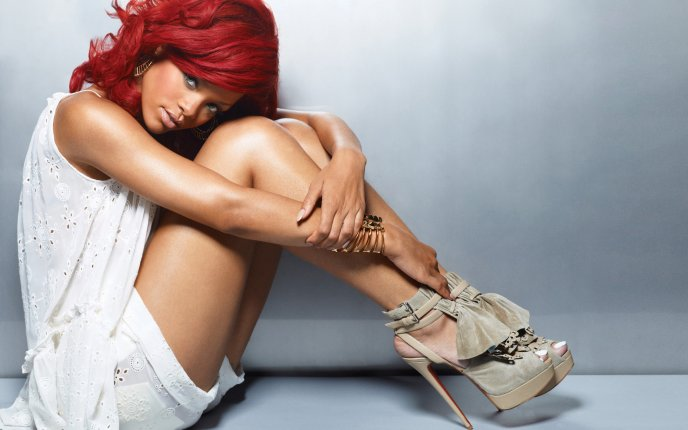 Beautiful singer Rihanna - professional photo