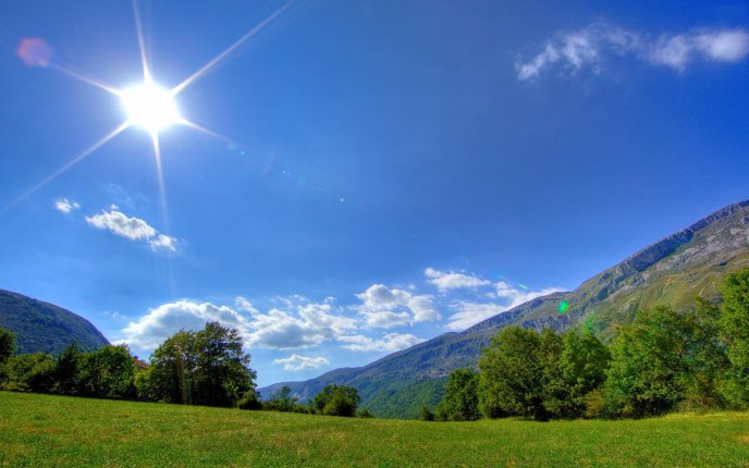 Wonderful Nature Landscape Hot Spring Day