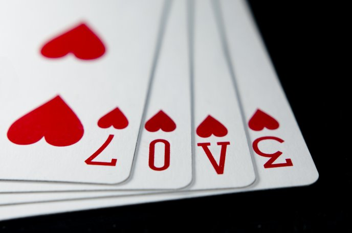 Poker Cards Hearts Poker Cards Love Message And