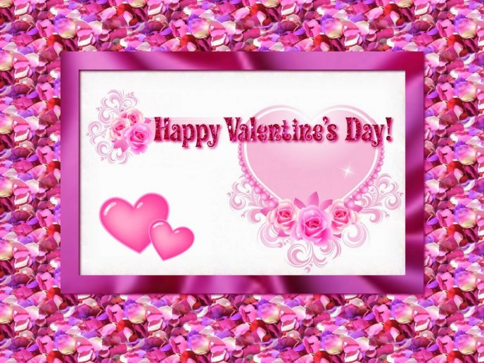 Pink Valentines Day - rose petals wallpapers