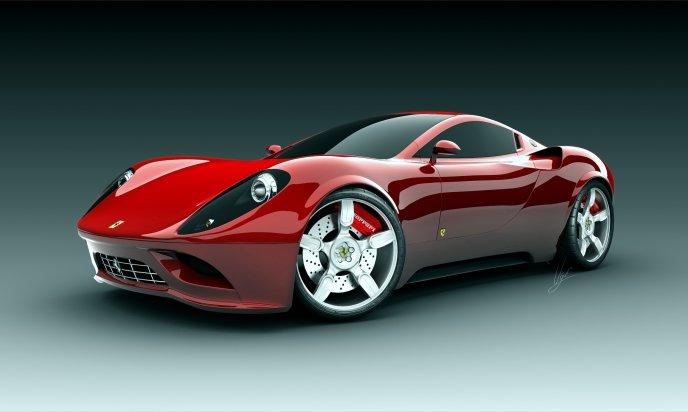 Red Beautiful Ferrari Sport Car Hd Wallpaper