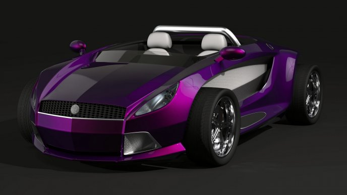 Black and purple bullet proof cars