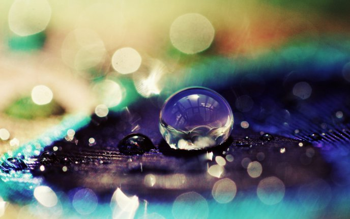 Macro water drop - magic mirror