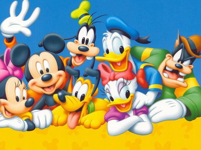 Characters from world of disney - Happy characters